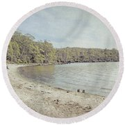 Lake St. Clair In Tasmania Round Beach Towel
