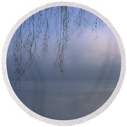 Lake Stillness Round Beach Towel