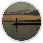 Lake Superior Grand Marais 8 Round Beach Towel