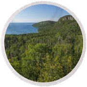 Lake Superior Grand Portage 2 Round Beach Towel