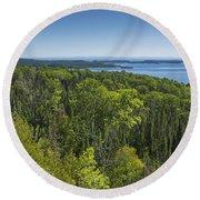 Lake Superior Grand Portage 3 Round Beach Towel