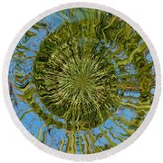 Lake Swirl Round Beach Towel