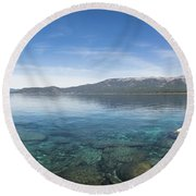 Lake Tahoe Calm Round Beach Towel