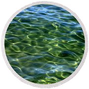 Lake Tahoe Swirls Abstract Round Beach Towel
