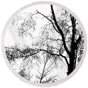 Lake - Tree  -  At The Lake By A Tree Round Beach Towel