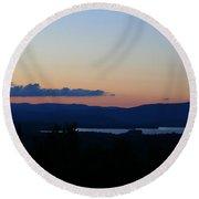 Lake Umbagog After Sunset   Round Beach Towel