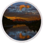 Lake View 2 Round Beach Towel
