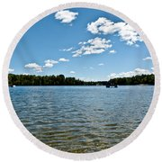 Lake View Round Beach Towel