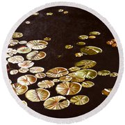 Lake Washington Lily Pad 10 Round Beach Towel