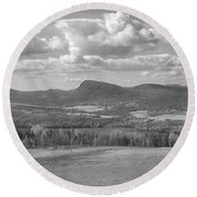 Lake Willoughby Vermont Round Beach Towel