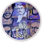 Lakers Love Jerry Buss 2 Round Beach Towel