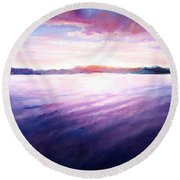 Lakeside Sunset Round Beach Towel by Shana Rowe Jackson