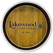 Lakewood Vineyards Round Beach Towel