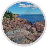 Lakies Head In Cape Breton Highlands Np-ns Round Beach Towel