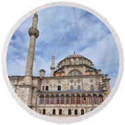 laleli Mosque 02 Round Beach Towel