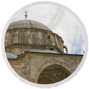 laleli Mosque 03 Round Beach Towel