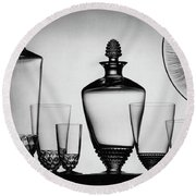 Lalique Glassware Round Beach Towel