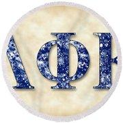 Lambda Phi Epsilon - Parchment Round Beach Towel