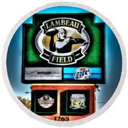 Lambeau Field Entrance Round Beach Towel