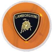 Lamborghini Emblem -0525c55 Round Beach Towel