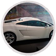 Lamborghini Gallardo Lp550-2 Side View Round Beach Towel
