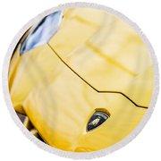 Lamborghini Hood Emblem -1661c Round Beach Towel