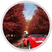 Lamborghini Maple Lane Big House Round Beach Towel