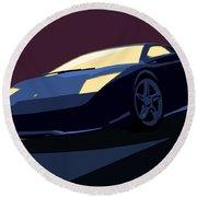 Lamborghini Murcielago - Pop Art Round Beach Towel