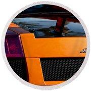 Lamborghini Rear View 2 Round Beach Towel