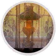 Lamp Light Glow Round Beach Towel