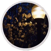 Lamplight 1 Round Beach Towel