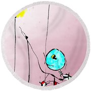 Lamplight Round Beach Towel