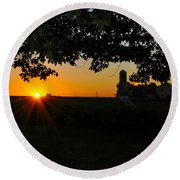 Lancaster County Morning Round Beach Towel