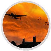 Lancaster Lincoln Sunset Round Beach Towel