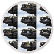 Lancaster Nose Art  Round Beach Towel