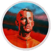 Lance Armstrong 2 Round Beach Towel by Paul Meijering
