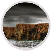 Land Of The Beginning Of Time... Round Beach Towel