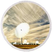 Land Of The Giant Lollypops Round Beach Towel