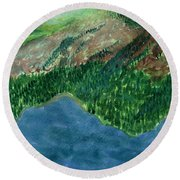 Land Of Time Round Beach Towel