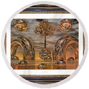 Land Of World 8624042 Framed Round Beach Towel