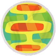 Abstract Pods Round Beach Towel