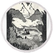 Landors Cottage Round Beach Towel