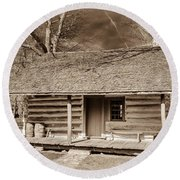 Landow Log Cabin 7d01723b Round Beach Towel