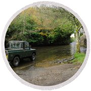 Landrover And The Ford  Round Beach Towel