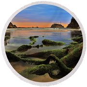 Lands End Round Beach Towel by Benjamin Yeager