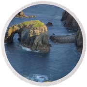 Lands End Morning Round Beach Towel