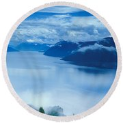 Landscape Round Beach Towel by Anonymous