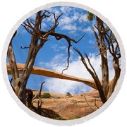 Landscape Arch - Arches National Park Round Beach Towel