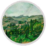 Landscape In The Ile-de-france Round Beach Towel
