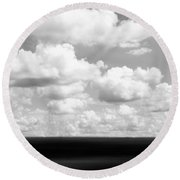 Landscape Layers In The Midwest Round Beach Towel